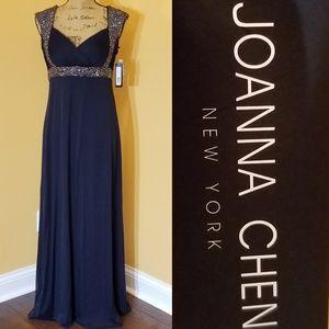 Joanna Chen New York navy sequin empire waist Rk:1